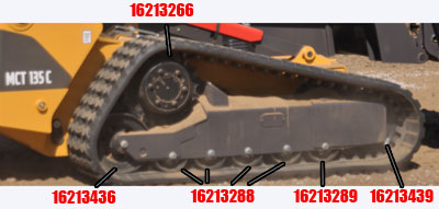 Volvo MCT 135c Rubber Tracks and Parts Online
