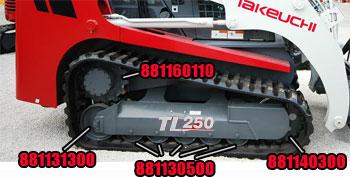 Takeuchi TL 250 Parts