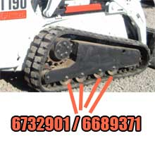 Bobcat® CTL Bolt Style Bottom Rollers