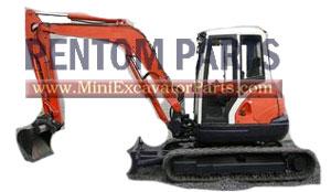 Kubota KX161-3 mini excavator parts