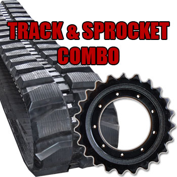 Rubber Track and Drive Sprocket Combo packs for cheaper prices