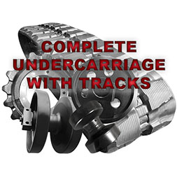 Aftermarket CNH Full Undercarriage WITH 18 Inch Wide Rubber Tracks